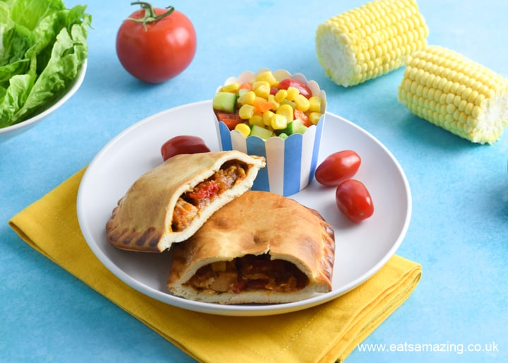 NEW Piri-Piri Chicken Slice from Walls Pastry with Sweetcorn Salad on the side