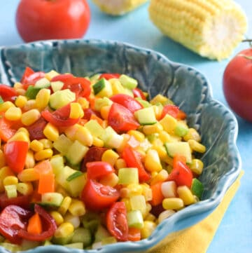 Quick and easy sweetcorn salad for kids - ths delicious summer recipe is perfect for BBQs and picnics