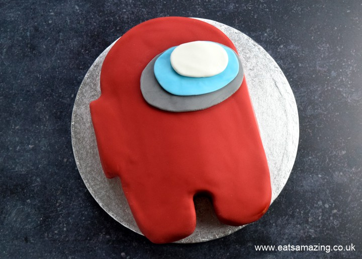 How to make an easy Among Us Crewmate Cake - recipe with step by step photos