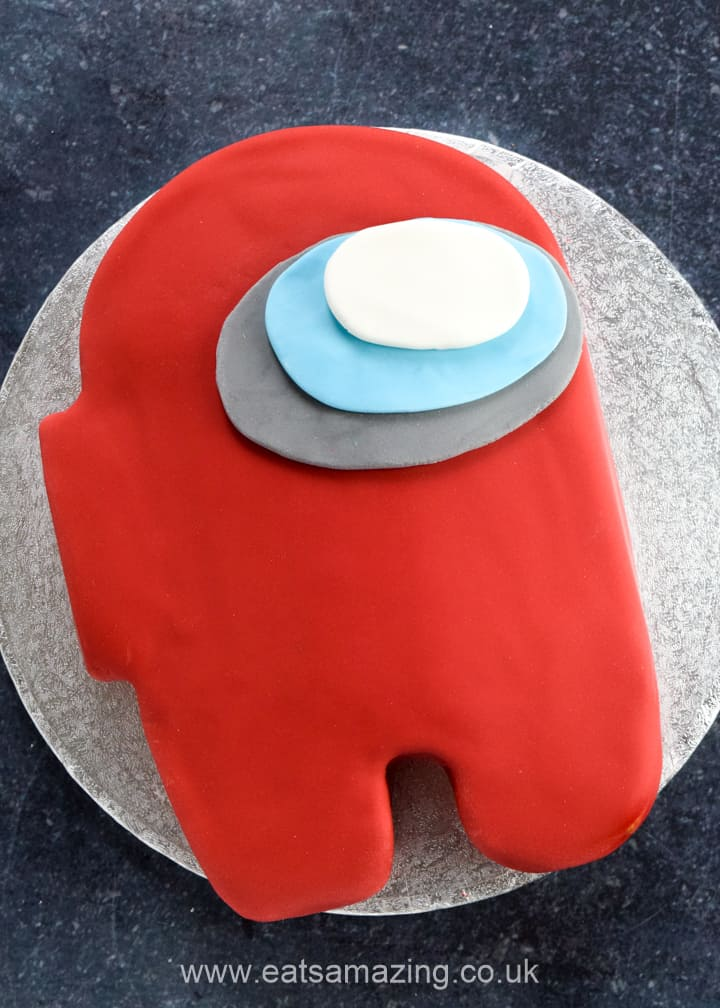 How to make easy Among Us themed cake - with step by step photos and full recipe