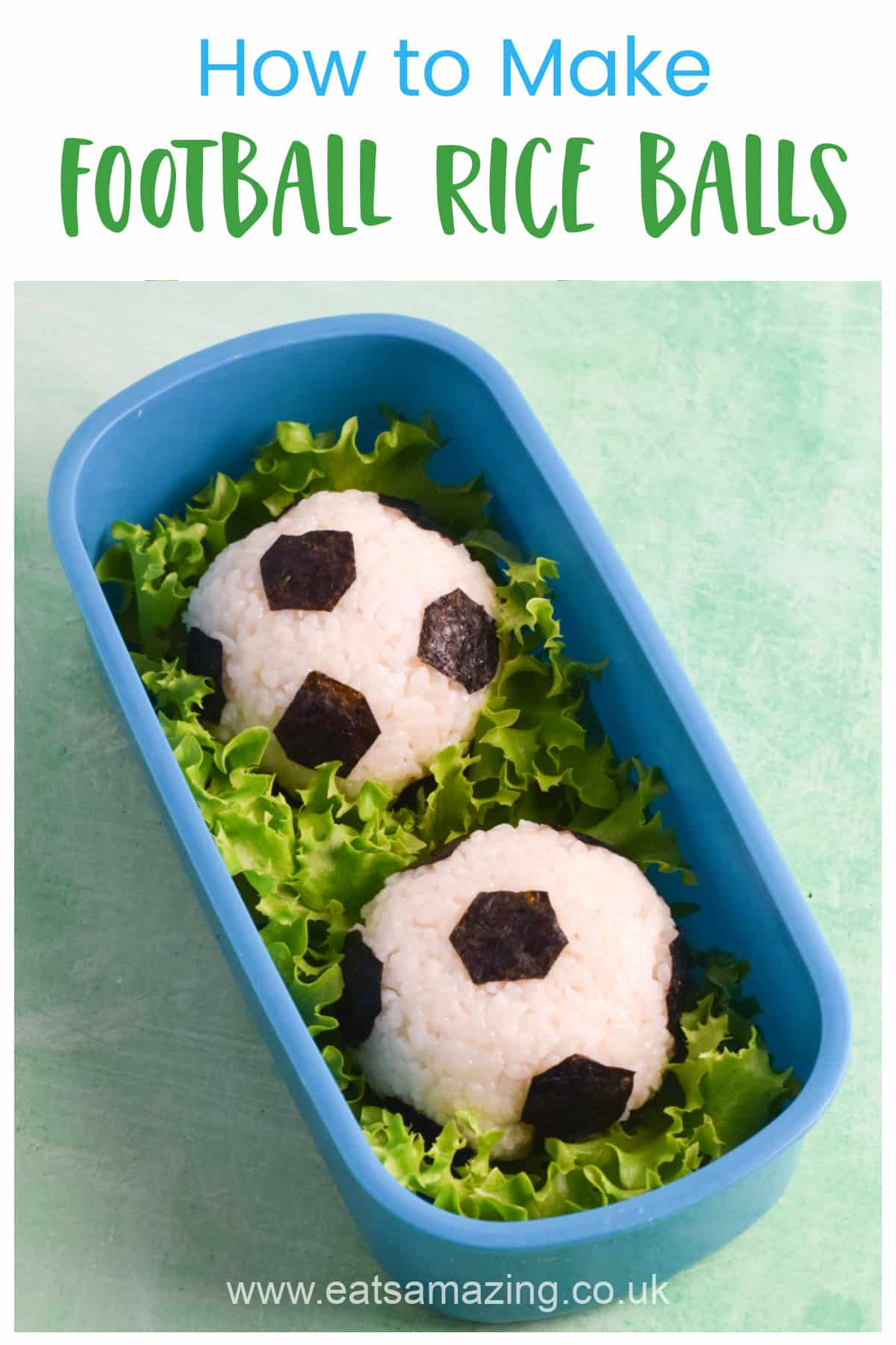 How to make easy football themed tuna recipe balls recipe - perfect for bento boxes and party food