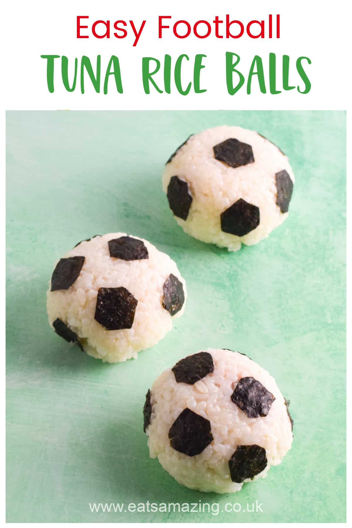 How to make fun and easy football rice balls - perfect for football themed party food