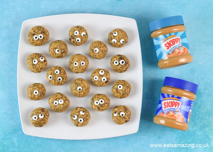 Fun and easy Monster Peanut Butter Energy Bites Recipe with SKIPPY Peanut Butter