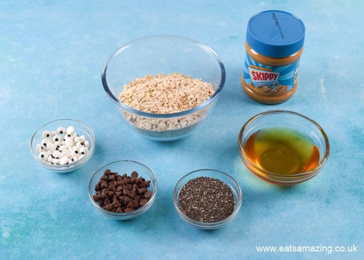 Ingredients for SKIPPY Peanut Butter Monster Energy Bites