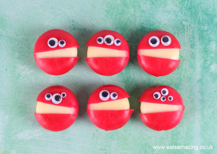 How to make fun and easy cheese monsters for Halloween party food for kids