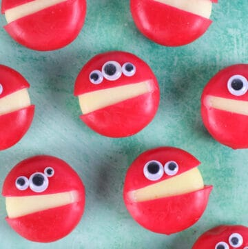 Quick and easy Babybel cheese monsters recipe - perfect for healthy Halloween party food kids lunch boxes or snacks