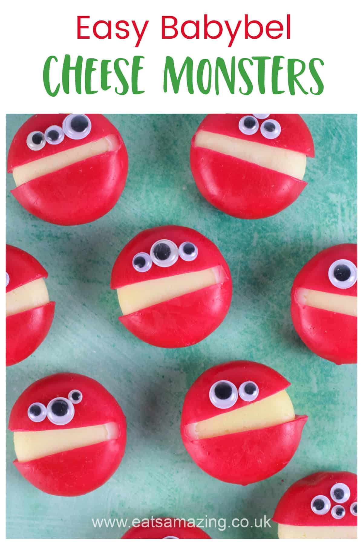 Super easy babybel cheese monsters - perfect for Halloween party food kids snacks and lunch boxes