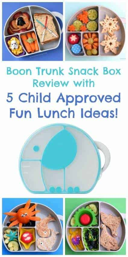 Boon Trunk Snack Box Review with 5 fun lunch ideas for kids from Eats Amazing UK