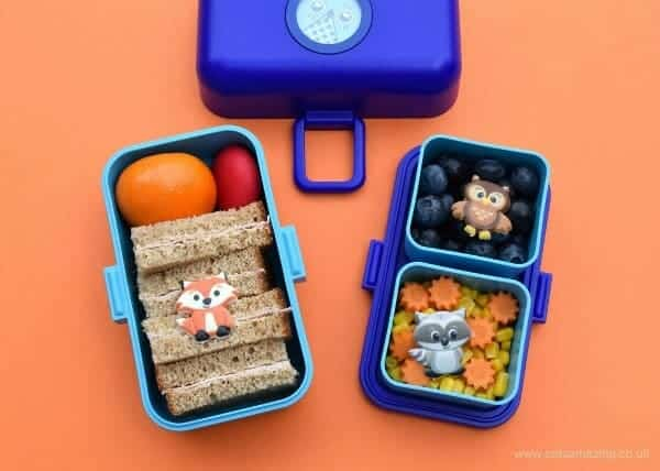 Cute and easy kids bento lunch made in the Monbento Tresor from Eats Amazing UK - with Monbento Tresor review