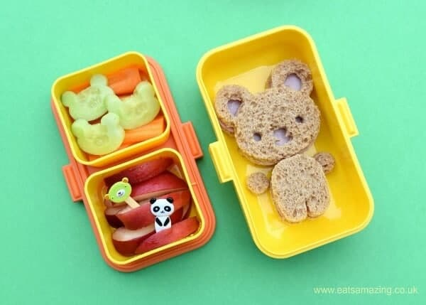 Cute bear bento lunch for a toddler made in the Monbento Tresor from Eats Amazing UK