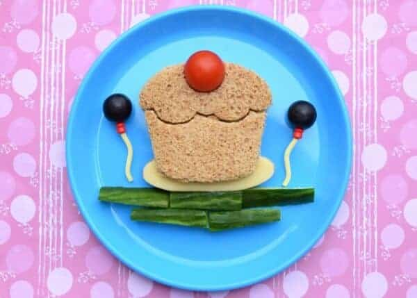 Cute cake sandwich fun food art for kids from Eats Amazing UK - made using a cutter from the Lunch Punch Sweets set
