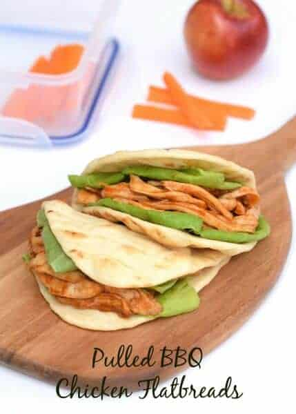 Delicious BBQ Pulled Chicken Flatbread recipe - great lunch box idea for kids and adults too - from Eats Amazing UK