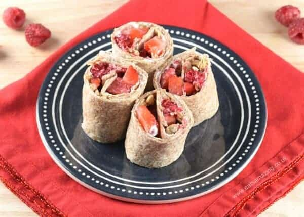 Easy Breakfast Cream Cheese Tortilla Roll-Up Recipe from Eats Amazing UK - fun breakfast idea for kids