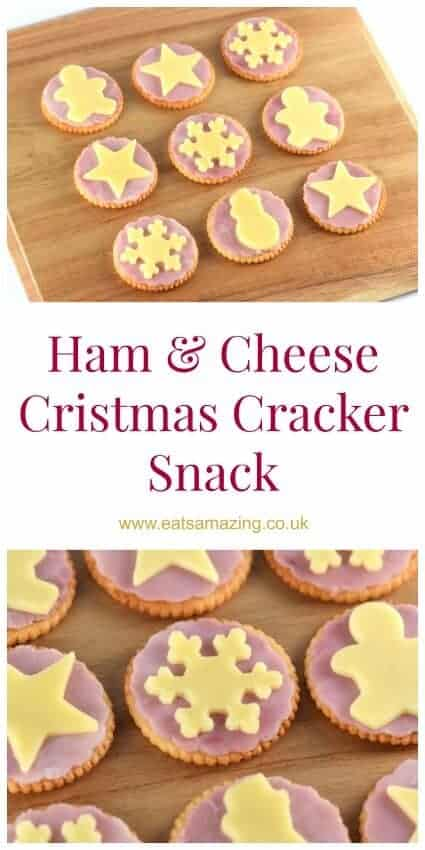 Easy Christmas themed snack - these make a great quick and fun snack for kids or cute Christmas party food - Eats Amazing UK #funfood #foodart #kidsfood #Christmas #ChristmasFood #ChristmasParty #Partyfood #snack #easyrecipe #festivefood