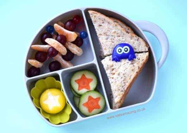Easy Kids lunch ideas served in the Boon Trunk Snack Box - with lunch box review from Eats Amazing UK
