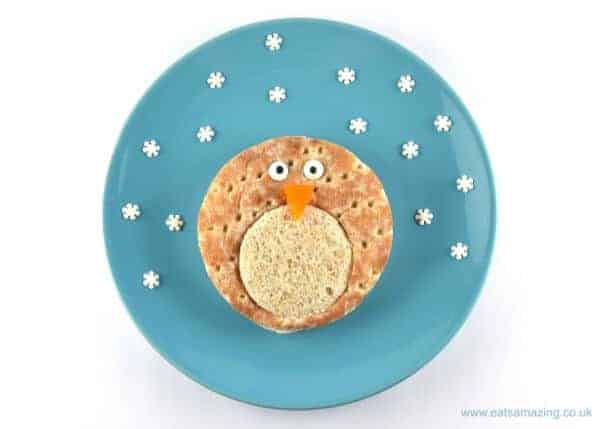 Easy Penguin Sandwich Tutorial with Hovis Sandwich Thins - Fun food for kids from Eats Amazing