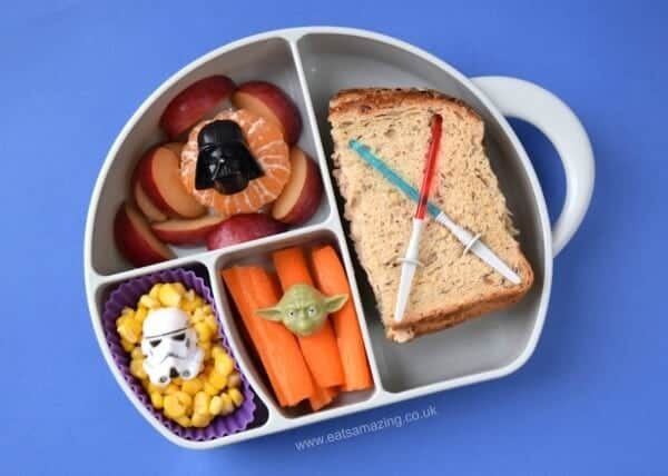 Easy Star Wars Packed Lunch idea for kids with a Boon Trunk Snack Box review from Eats Amazing UK
