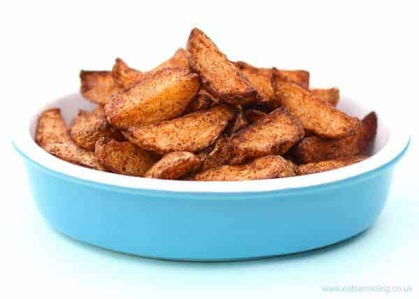 Easy homemade potato wedges that take just minutes to prepare - with free printable recipe sheet for kids from Eats Amazing UK