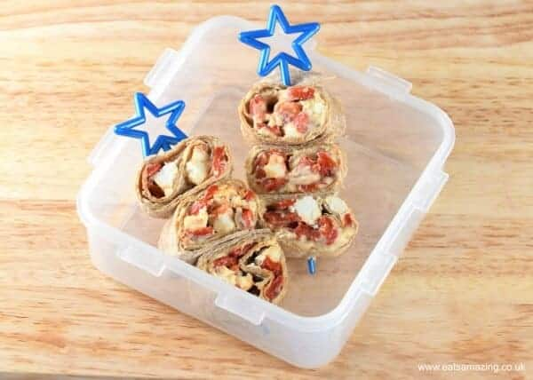 Easy tortilla roll-up recips from Eats Amazing UK - great for lunch boxes for kids and adults too