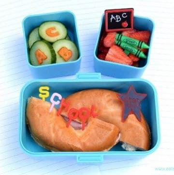 First day of school bento lunch idea - fun food for kids from Eats Amazing UK