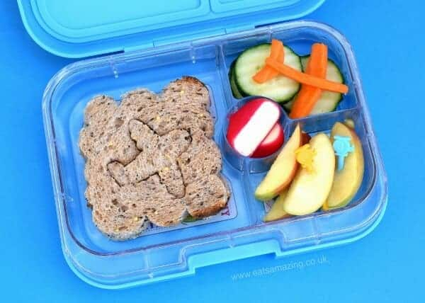 Fun Airplane packed lunch idea from Eats Amazing UK - made using a lunch punch sandwich cutter and Yumbox bento box