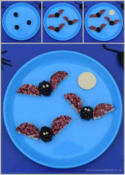 Fun and easy Halloween Food Art snack plate ideas for toddlers from Eats Amazing UK - making healthy food fun fun for kids