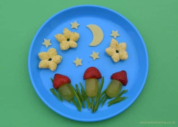 Fun and easy food art ideas for Toddlers - make healthy snacks fun and encourage kids to try new foods - Eats Amazing UK with Organix
