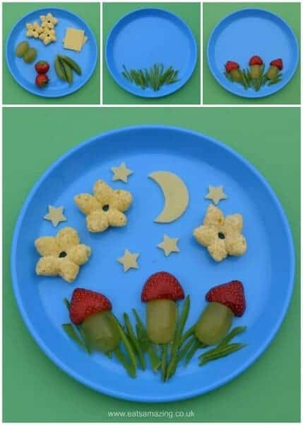 Fun and easy food art ideas for Toddlers - make healthy snacks fun and encourage kids to try new foods - Eats Amazing UK