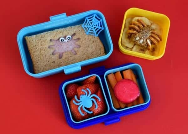 easy spider bento for halloween eats amazing. Black Bedroom Furniture Sets. Home Design Ideas