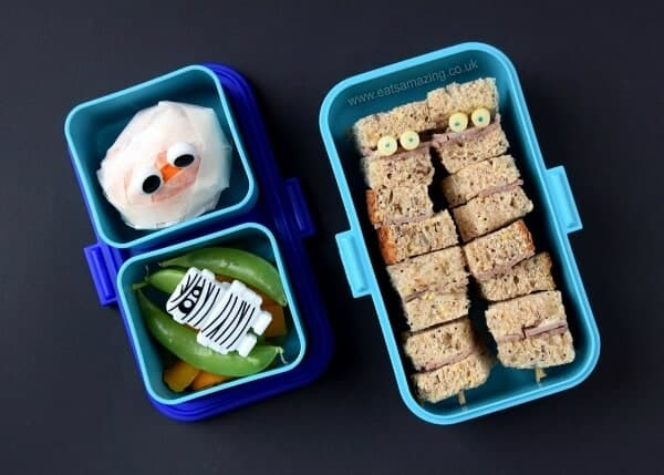 mummy bento lunches for halloween eats amazing. Black Bedroom Furniture Sets. Home Design Ideas