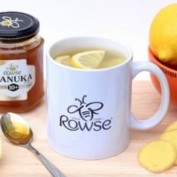 Homemade Honey Lemon and Ginger Tea recipe - this delicious family remedy is the perfect pick me up to help you through coughs and colds