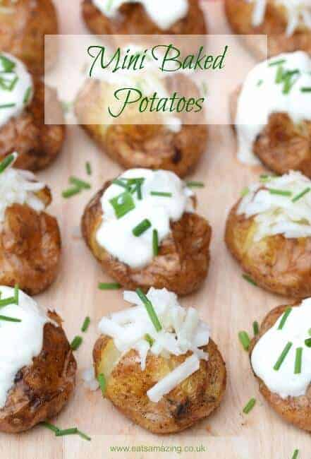 Mini Baked Potatoes Recipe Fun And Easy Party Food Idea For Bonfire Night And The