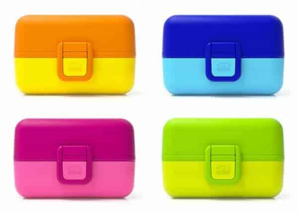Monbento Tresor review from Eats Amazing UK - cute and colourful bento box for kids