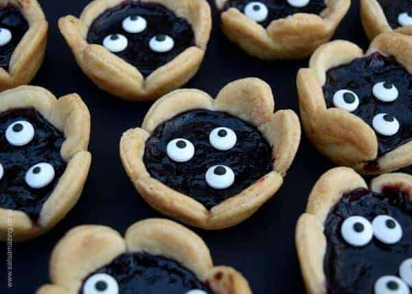 Quick and easy Halloween recipe for kids - fun monster jam tarts from Eats Amazing UK - fun Halloween party food idea too