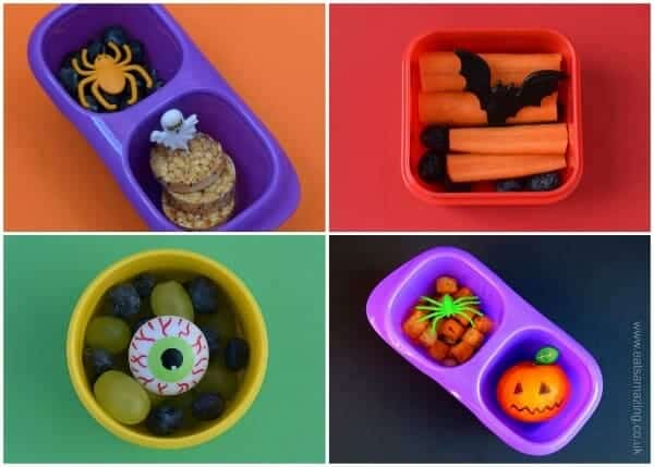 Quick and easy healthy after school snack ideas for kids with a fun Halloween theme for October