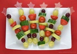 Christmas Fruit & Veg Snack Skewers