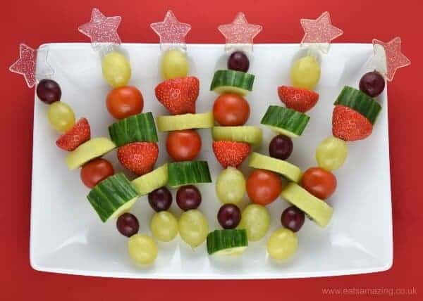 christmas fruit veg snack skewers