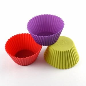 Set of 3 Extra Large Silicone Cupcake Cases from the Eats Amazing Bento UK Shop