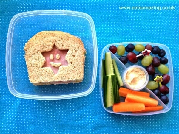 Simple Sandwich and nibbles kids lunch in the Sistema Salad to Go Lunch box from Eats Amazing UK
