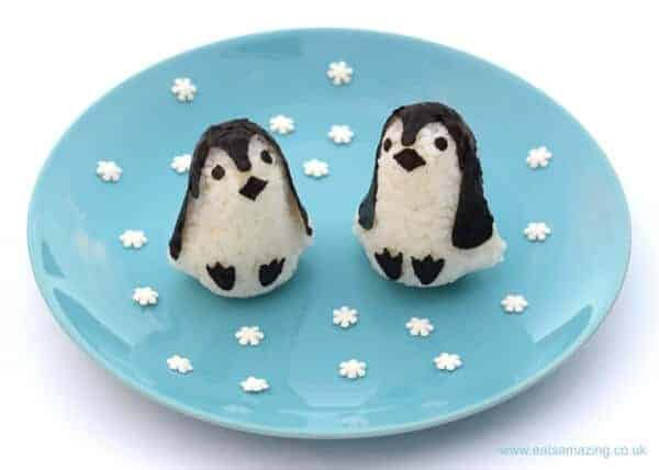 Super cute and easy rice penguins made with the baby penguin rice mould set - with video tutorial from Eats Amazing UK