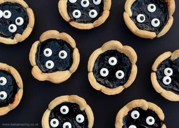 Super easy Halloween recipe for kids - fun monster jam tarts from Eats Amazing UK - fun Halloween party food idea