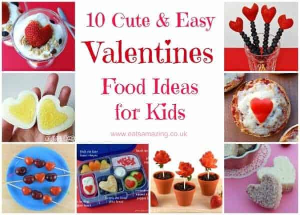 Ten gorgeous Valentines day food ideas for Kids - cute and easy Valentines themed foods from Eats Amazing UK