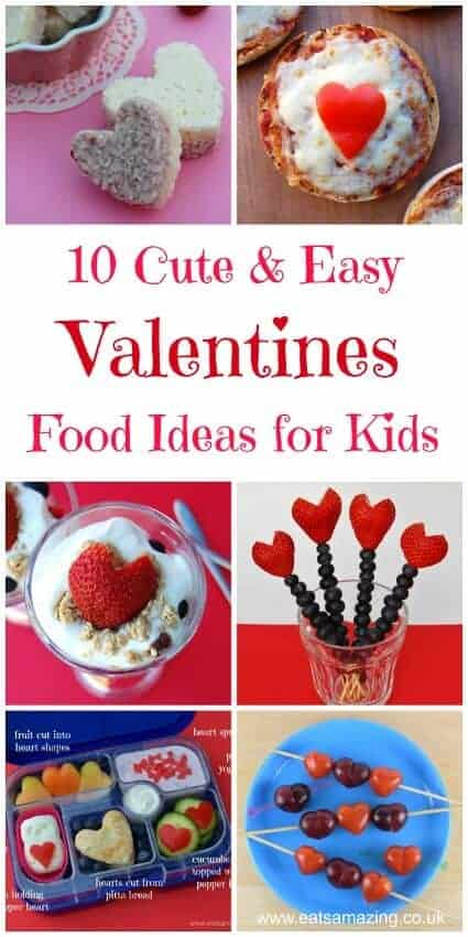 Ten great Valentines day food ideas for Kids - cute and easy Valentines themed foods from Eats Amazing UK #funfood #kidsfood #valentines #valentinesday #valentinesfood #foodart #edibleart #hearts #easyrecipe #cookingwithkids #kidsinthekitchen