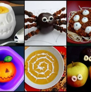 Ten super fun and easy healthy food ideas for Halloween - kids will love these fun ideas for a healthy Halloween - from Eats Amazing UK